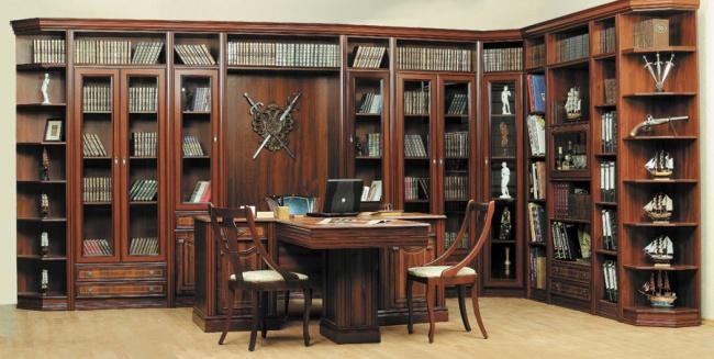 Мебель для домашнего кабинета из раздела варианты исполнения.
